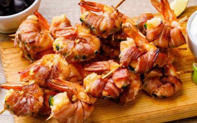 Bacon Wrapped Jalapeno Shrimp