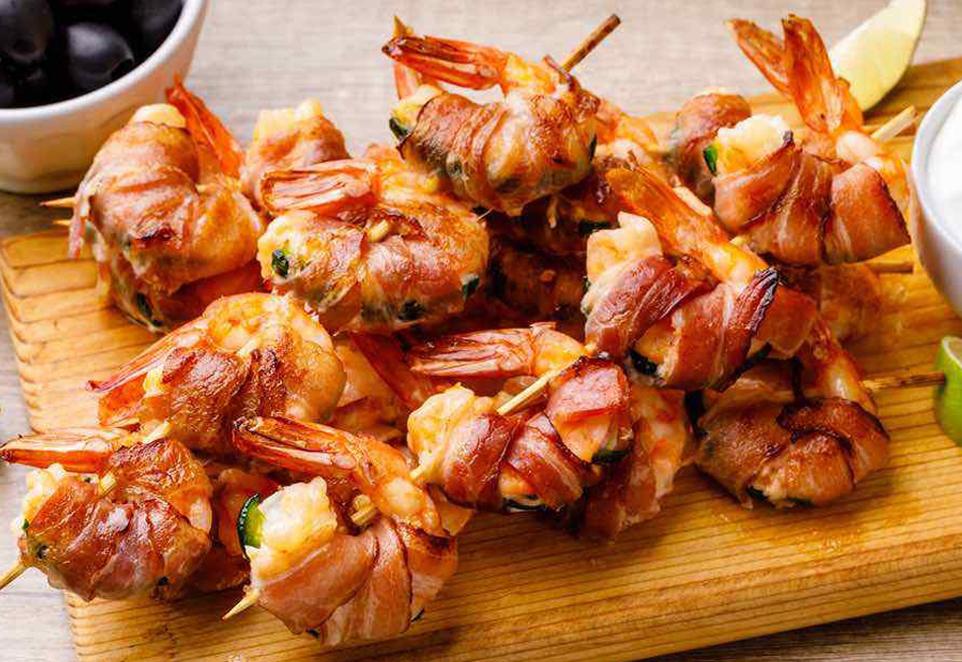 Bacon Wrapped Jalapeno Shrimp