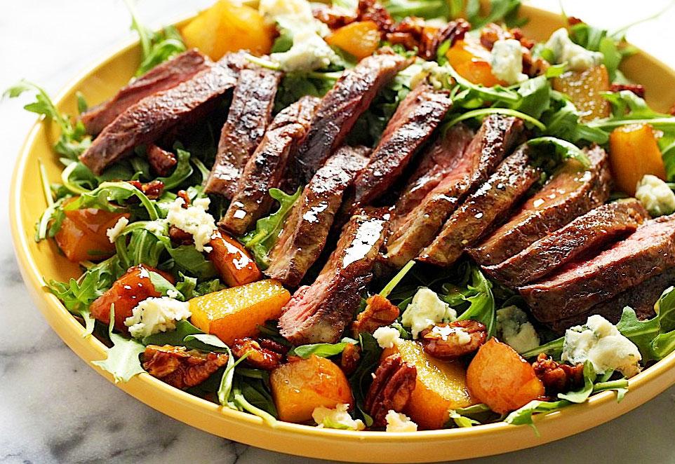 Oriental Grilled Skirt Steak Salad
